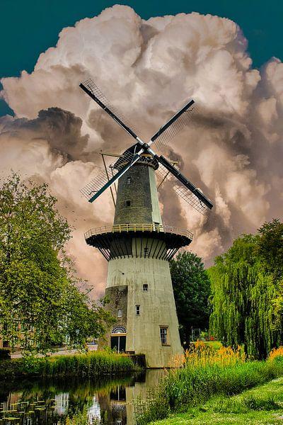 Mill, Schiedam, Niederlande von Maarten Kost