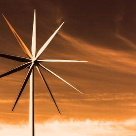 Windturbine met veel wieken van Frank Herrmann
