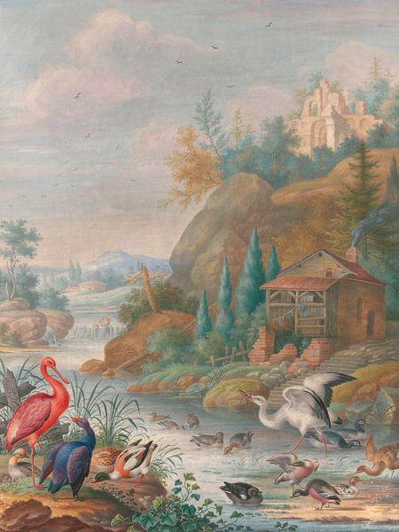 Vogels bij een bergstroom, Herman Henstenburgh van Meesterlijcke Meesters