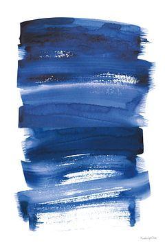 Bold blauw IV, Mercedes Lopez Charro van Wild Apple