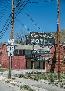 Verlaten motel in Kentucky van