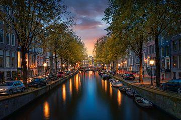 Lever de soleil à Amsterdam sur Martijn Kort