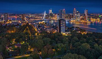 Rotterdam-Panorama | Kop van Zuid | Euromast von Rob de Voogd / zzapback