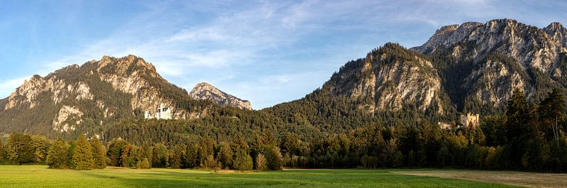 2 Schlösser Panorama von Uwe Ulrich Grün