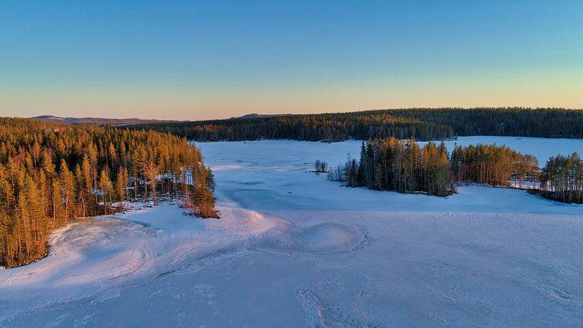 Bevroren meer in Zweden van Fields Sweden