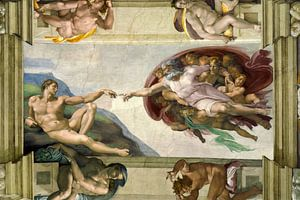 Michelangelo. Sixtijnse Kapel, Schepping van Adam
