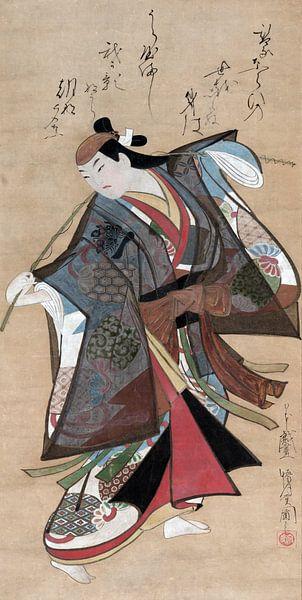 Kaigetsudo Ando. Sanjo Kantaro II in de rol van Urashima Taro van 1000 Schilderijen