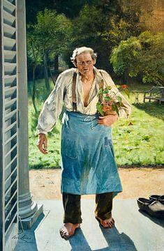 Der alte Gärtner, Emile Claus