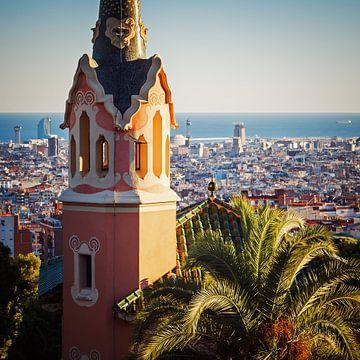 Barcelona Skyline / Park Guell sur