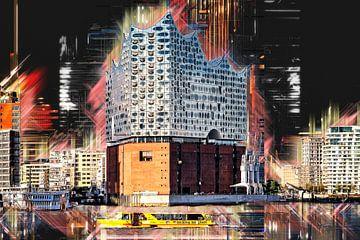 De nieuwe Elbphilharmonie in Hamburg van Peter Roder