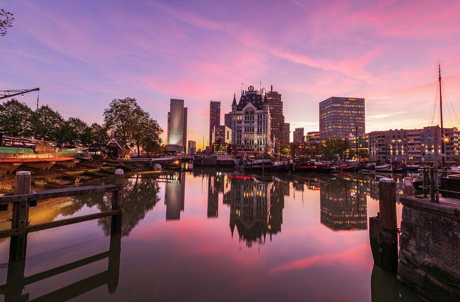 Oude Haven rosa Dämmerung, Rotterdam von Gea Gaetani d'Aragona