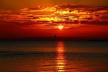 Sonnenuntergang am Meer von Heike Hultsch