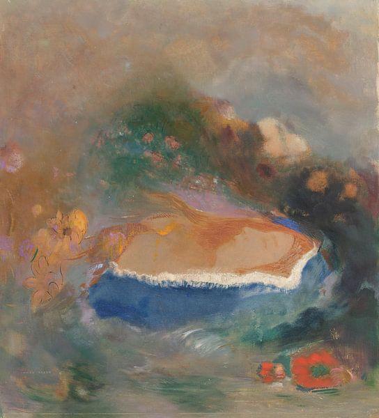 Ophélie, la cape bleue sur les eaux, Odilon Redon van Meesterlijcke Meesters