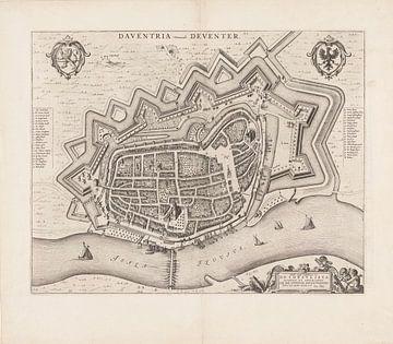 Karte von Deventer 1652
