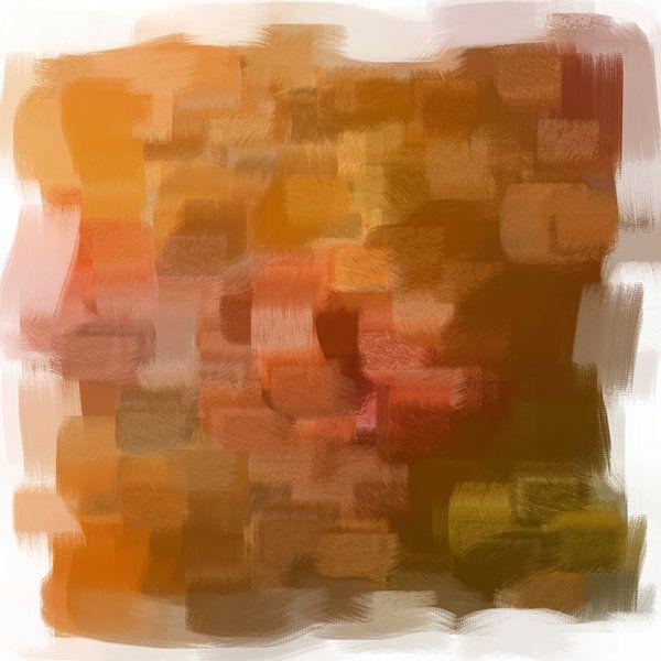 Abstrakt in Terrakotta-Tönen von Maurice Dawson