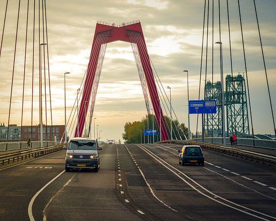 Sonnenaufgang Willemsbrug Rotterdam