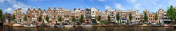 Prinsengracht Amsterdam lineaire panorama sur Dennis van de Water