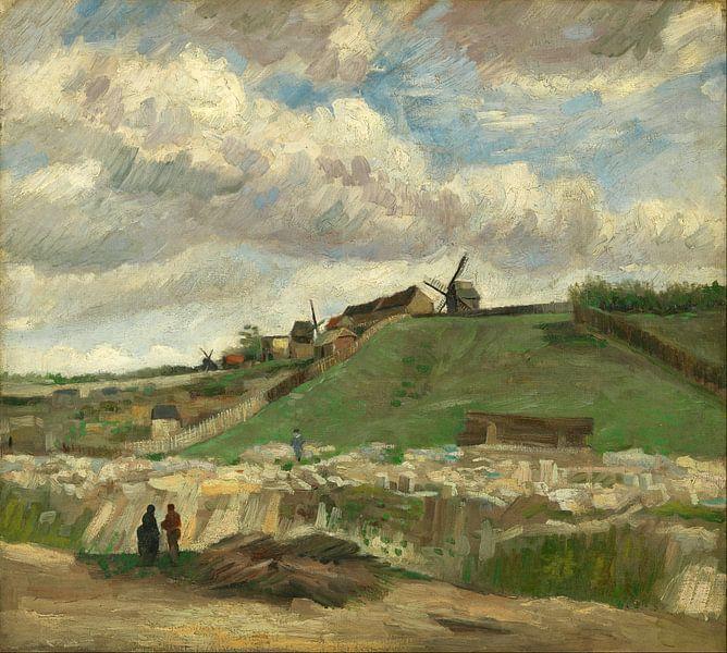 Vincent van Gogh. De heuvel van Montmartre  van 1000 Schilderijen