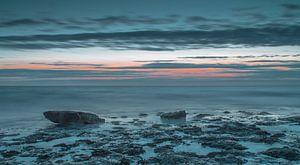Blauwe zee van