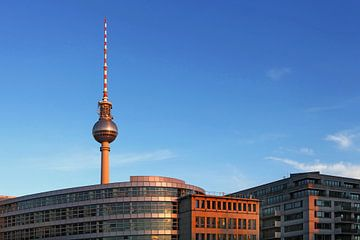Berlin Skyline - Fernsehturm und moderne Bürogebäude von Frank Herrmann