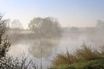 Bei Nebel an der Saale von Karina Baumgart