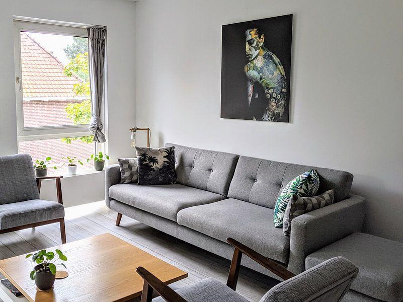 Klantfoto: A Woman Painted (VT Wonen & Design Beurs 2019) van Marja van den Hurk