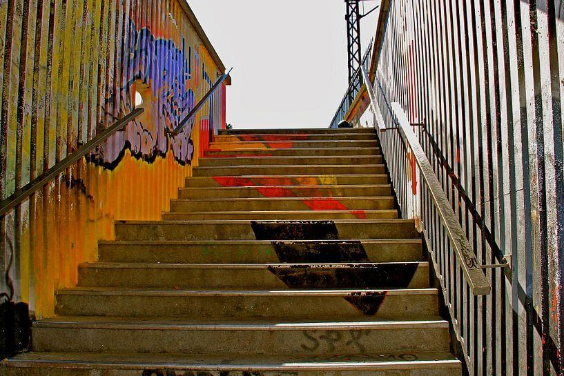 Painted stair van Gerda H.