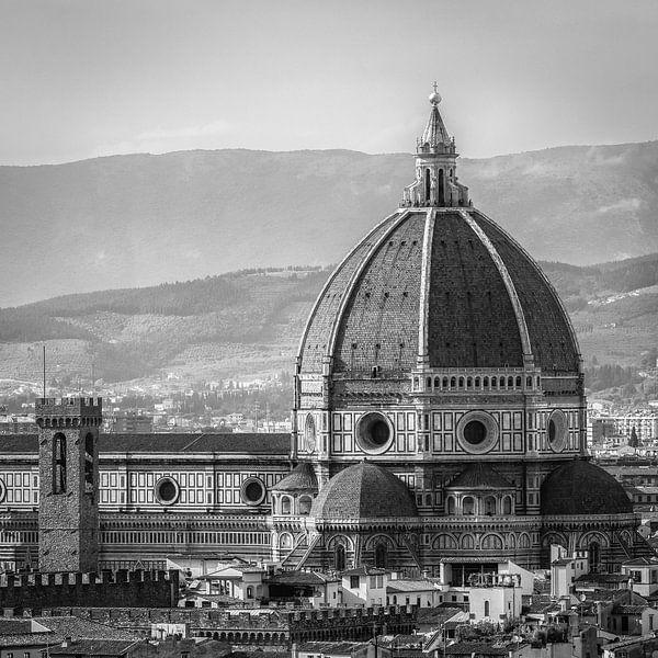 Italië in vierkant zwart wit, Florence