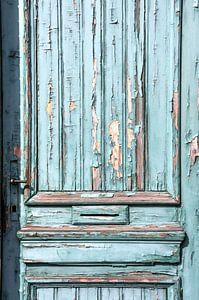 Oude deur haven Antwerpen van