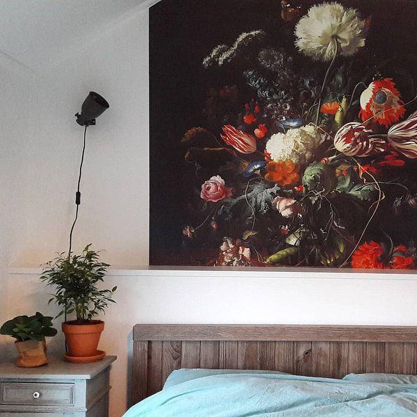 Klantfoto: Jan Davidsz de Heem. Vaas met bloemen  van 1000 Schilderijen