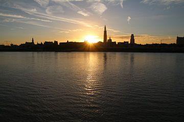 Antwerpse Skyline van Geert Neukermans