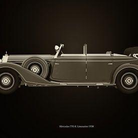 Mercedes 770-K Zwart en Wit van Jan Keteleer