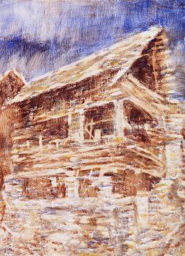 Huis in Bosco, Christian Rohlfs, 1933 van Atelier Liesjes