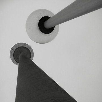 Rheinturm Düsseldorf von Corneelia Wall Art
