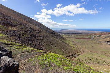 Vulkaanlandschap in het zuiden van Lanzarote van Reiner Conrad