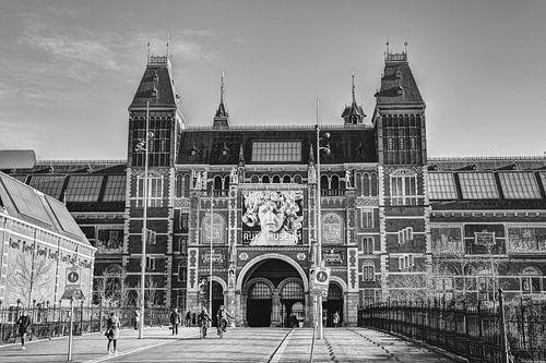Rijksmuseum Amsterdam Winter Zwart-Wit