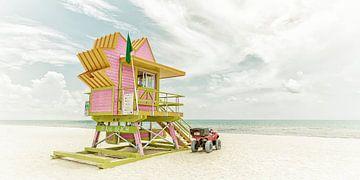 MIAMI BEACH Florida Flair | Vintage Panorama van Melanie Viola
