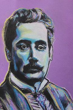 Porträt von Giacomo Puccini von Helia Tayebi Art