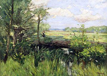 Frühling - Der Schwielowsee bei Kaputh, KARL HAGEMEISTER, Um 1882