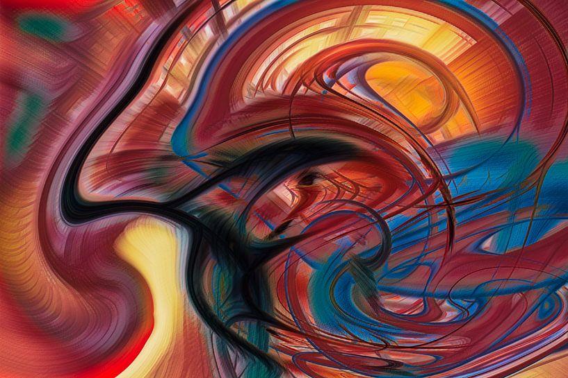Digitale kunst nr. 3 van Leo Luijten