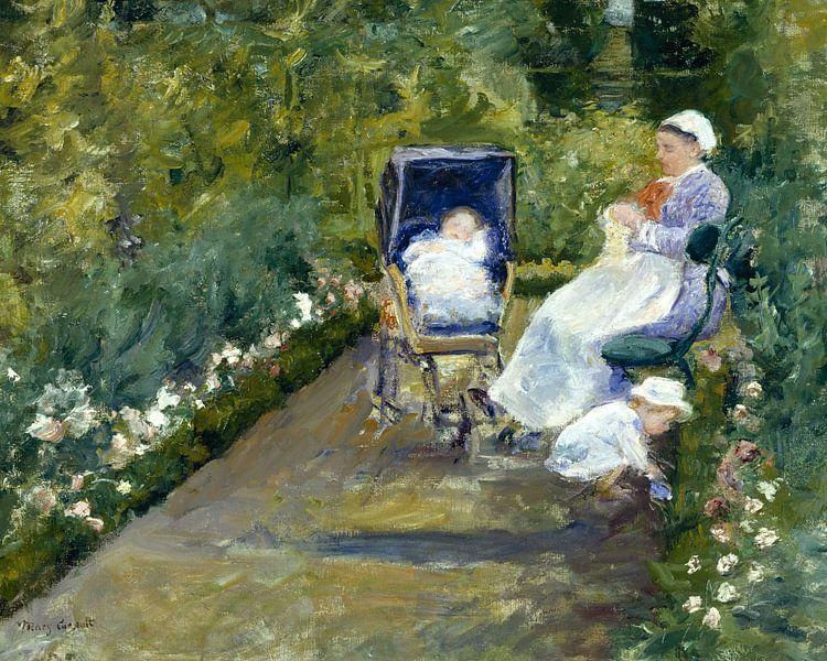 Mary Cassatt, Kinder in einem Garten (Die Schwester) - 1878 von Atelier Liesjes
