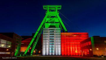 Kolenmijn Zollverein - 75e verjaardag van NRW van Lichter-der-Stadt in NRW