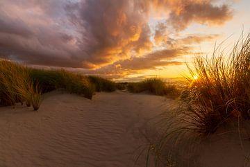 Zonsondergang in de duinen van Henri De Wit