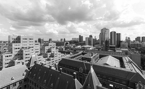 Het Stadhuis, Markthal en het Timmerhuis in Rotterdam