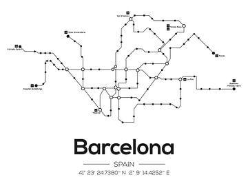 Metrolinien Barcelona von MDRN HOME
