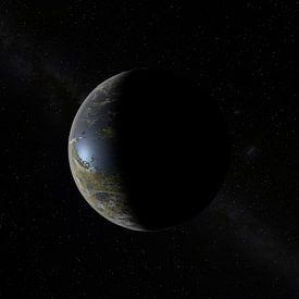 Der Neue Mond am Himmel von Frans Blok