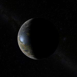De Nieuwe Maan aan de hemel