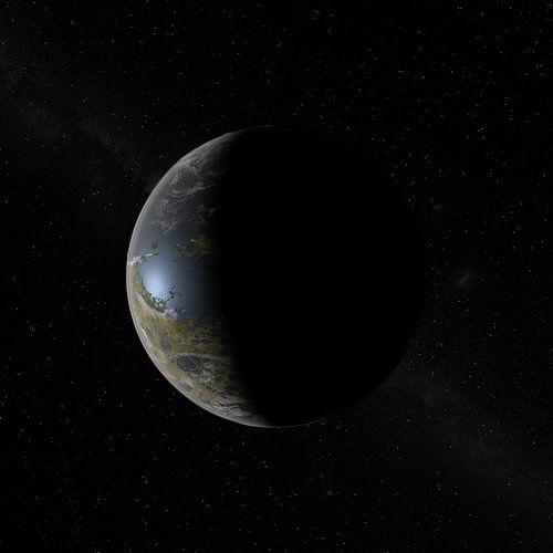 De Nieuwe Maan aan de hemel van