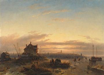 L'hiver sur l'IJ à Amsterdam, Charles Leickert