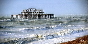 Brighton Old Pier van JiPé digital artwork